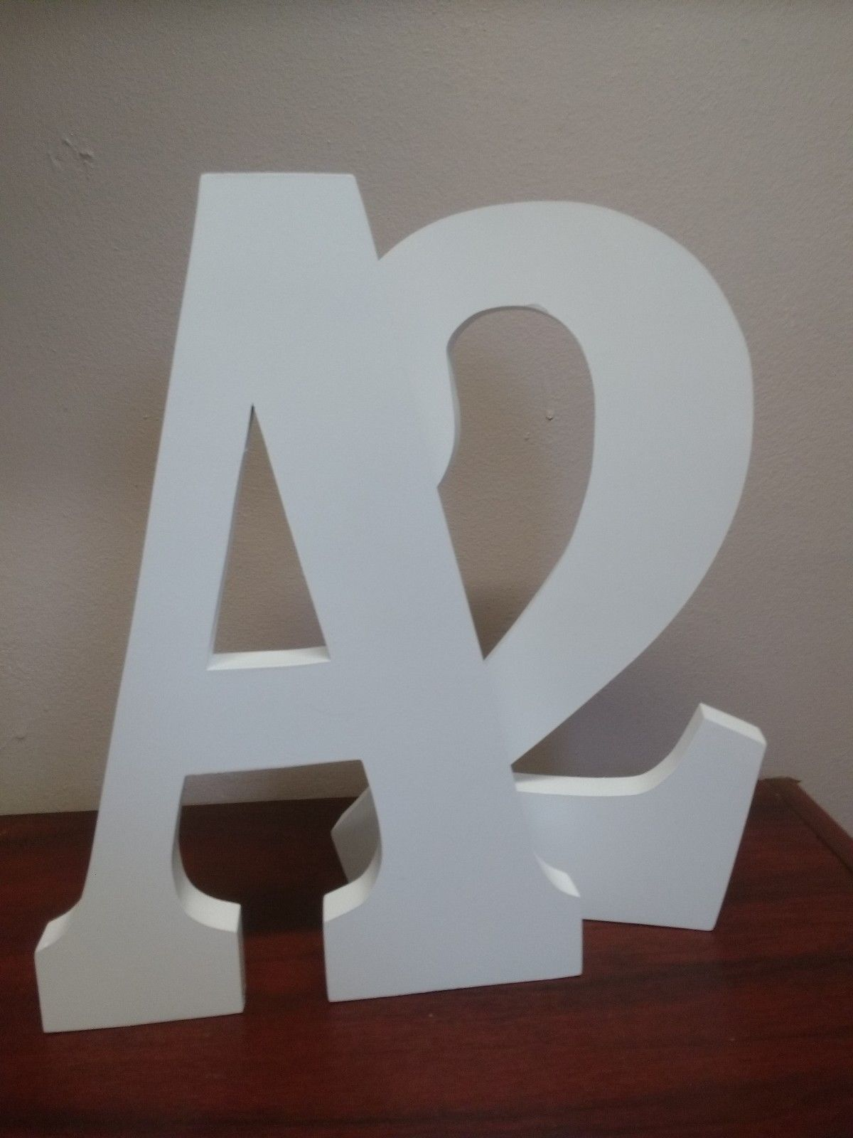 Free standing large wooden letters 30 cm 12 painted wooden for Standing wood letters to paint
