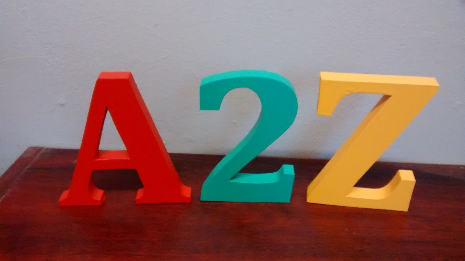 Free standing wooden letters large 12 cm painted wooden for Large freestanding wooden letters